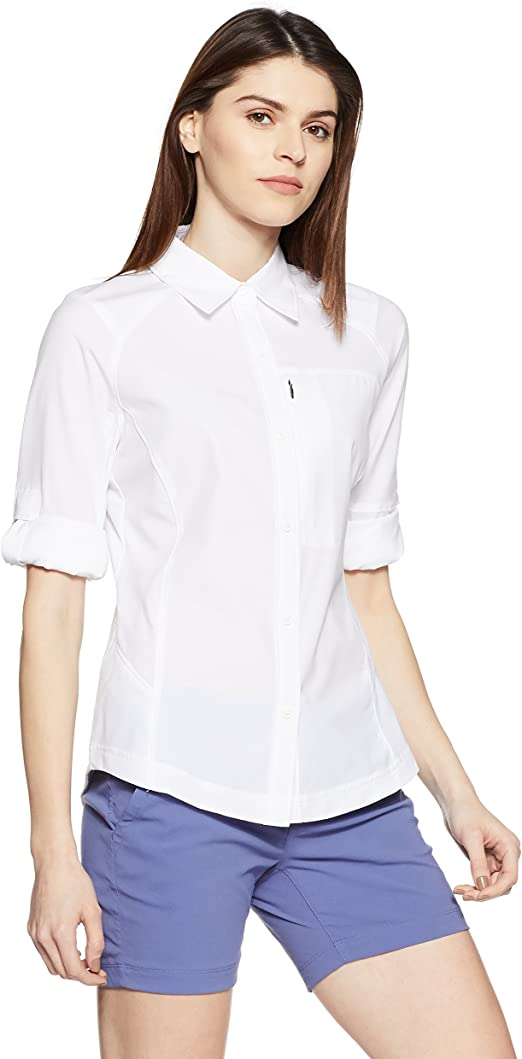 Columbia Camisa de Excursionismo de Manga Larga para Mujer, Silver Ridge Long Sleeve Shirt: Amazon.es: Ropa y accesorios
