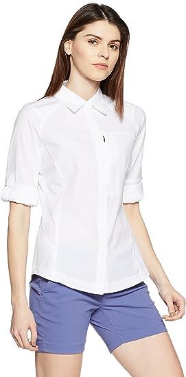 Image ofColumbia Camisa de Excursionismo de Manga Larga para Mujer, Silver Ridge Long Sleeve Shirt