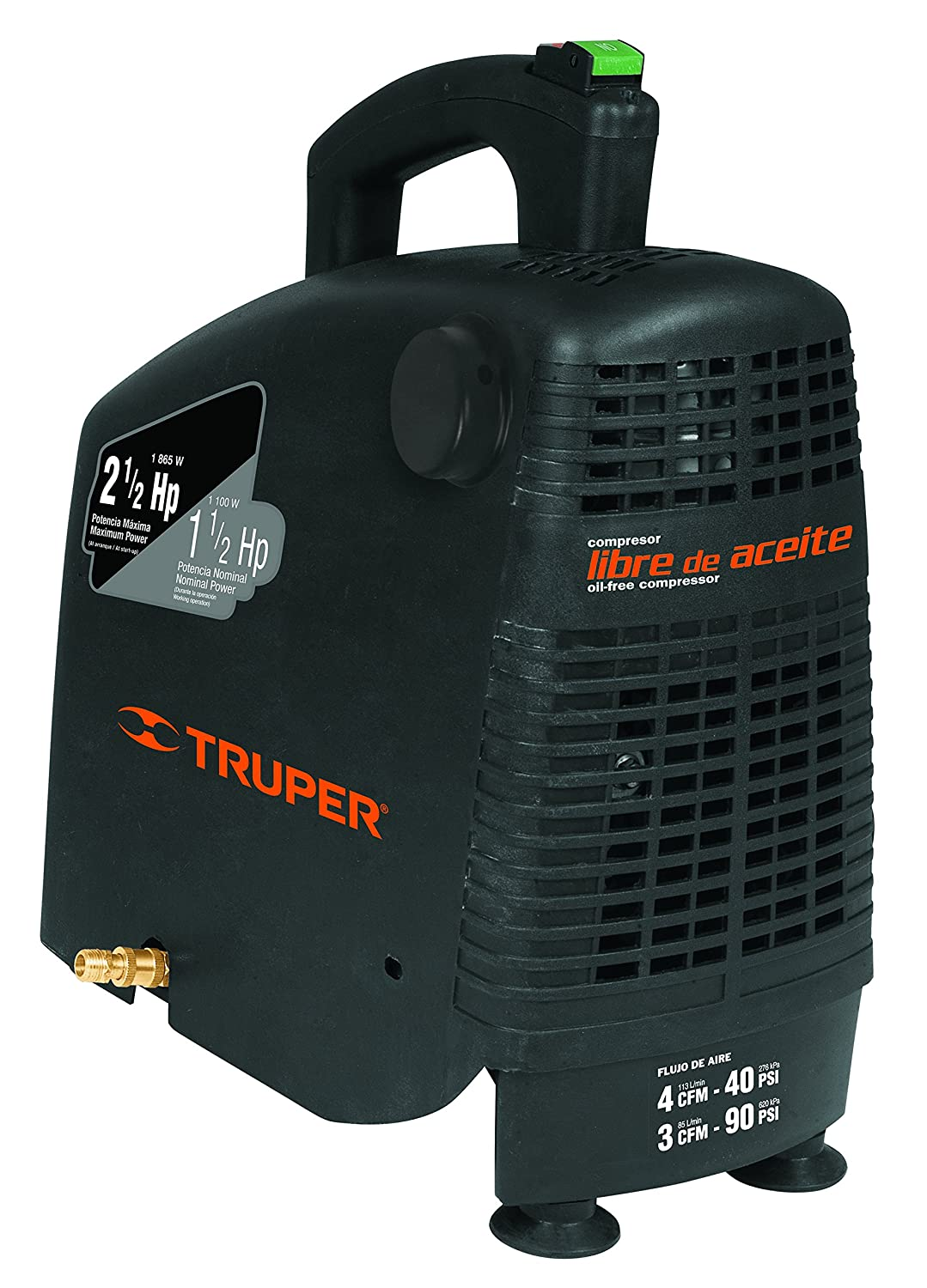 Amazon.com: TRUPER COMP-POR-2.5 Self-lubricating compressor portable, 2.5 HP. 1 Pack: Home Improvement