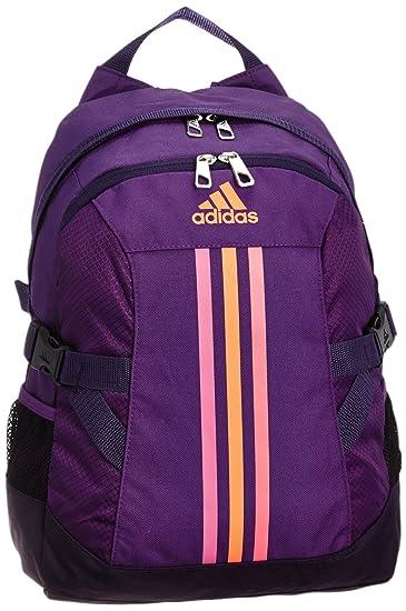 Adidas morado y naranja casual Backpack (f49855 bolsa NS):