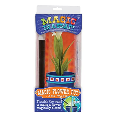 Melissa & Doug Magic in a Snap Magic Flower Pot & Wand, Multicolor: Toys & Games