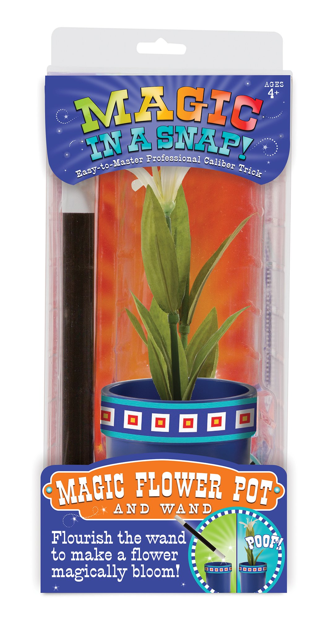 Melissa & Doug Magic in a Snap Magic Flower Pot & Wand, Multicolor by Melissa & Doug