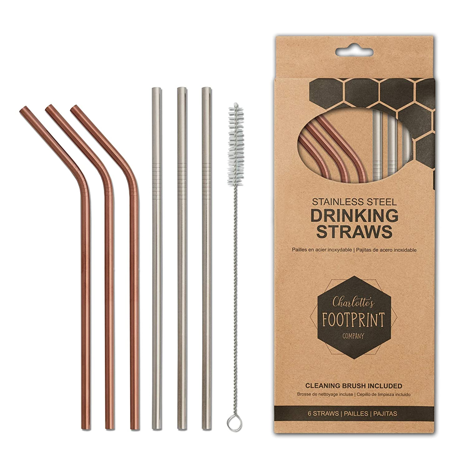 Reusable straws are better for the environment.
