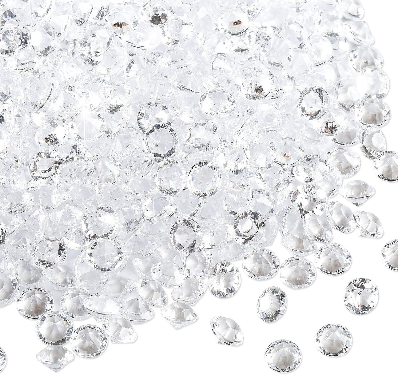 Naler 6mm Decoración de Diamantes Decoración Transparente Acrílico Diamantes Cristal Piedras Decorativas Mesa decoración Boda Decoración (3000Unidades)