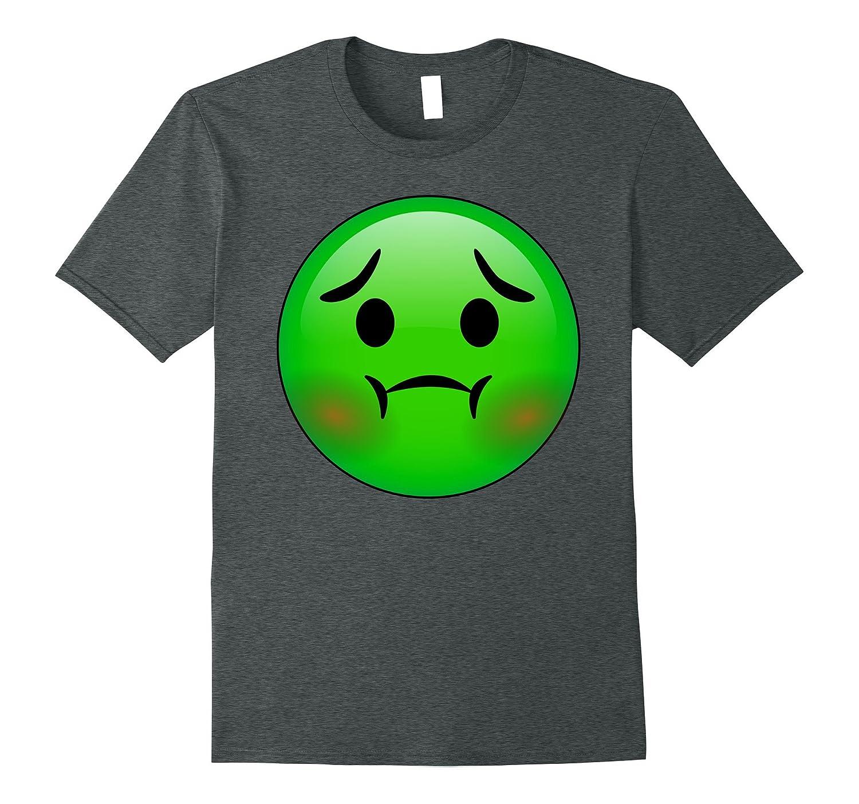 Hd emoji nauseated face shirt disgust green emoticon tee anz
