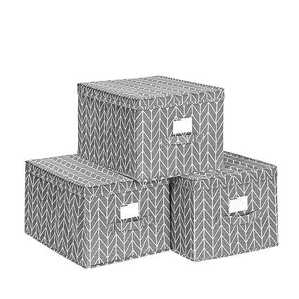 3x Weiß Faltbox ohne Deckel Box Regalbox Aufbewahrungsbox Stoffbox faltbar
