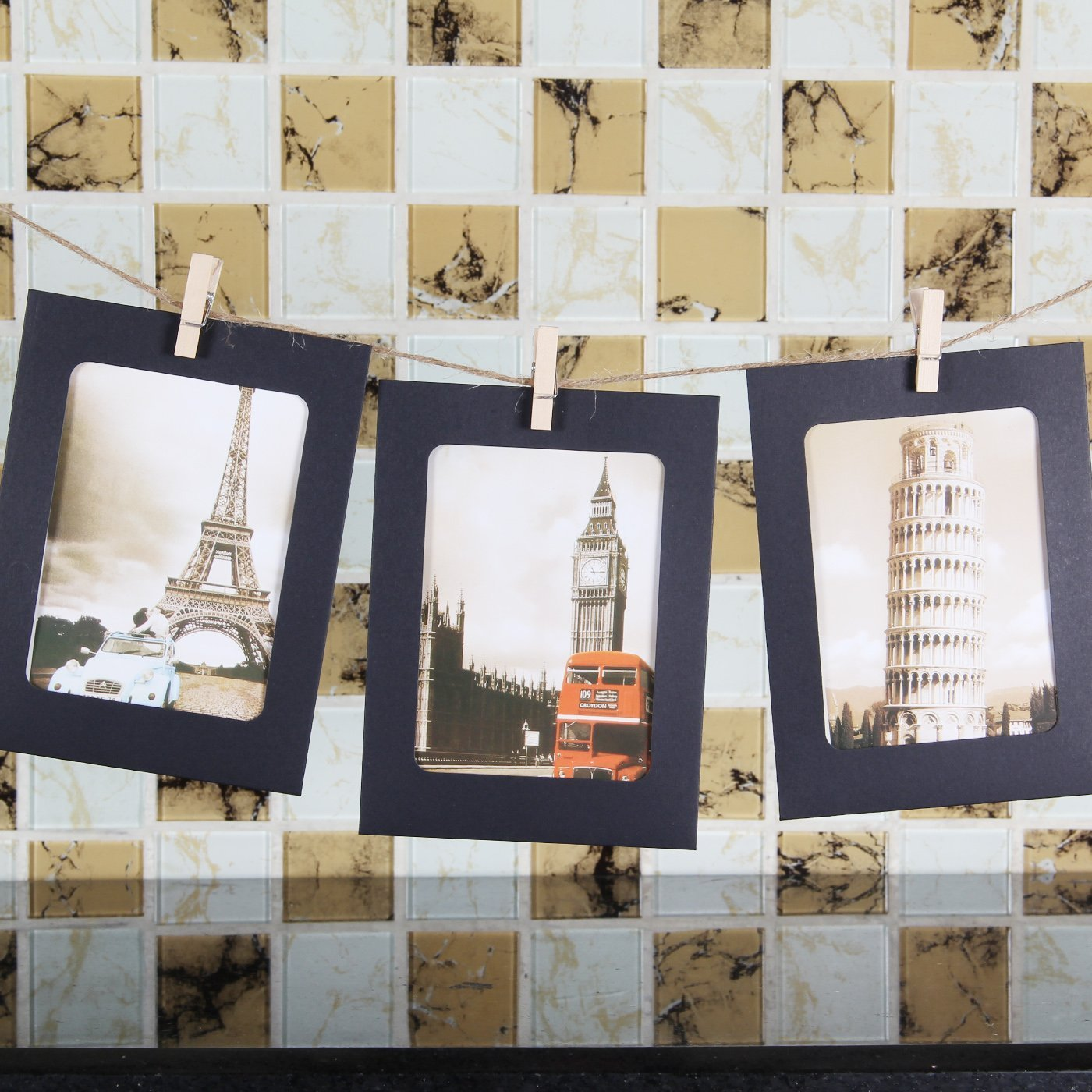 NOBBEE Paper Frame 4x6 Kraft Paper Picture Frames 30 PCS DIY