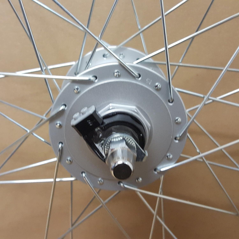Reifen, Schläuche & Laufräder 26 Zoll Vorderrad Laufrad SHIMANO Nabendynamo Komplettset Vorderlicht Rücklicht