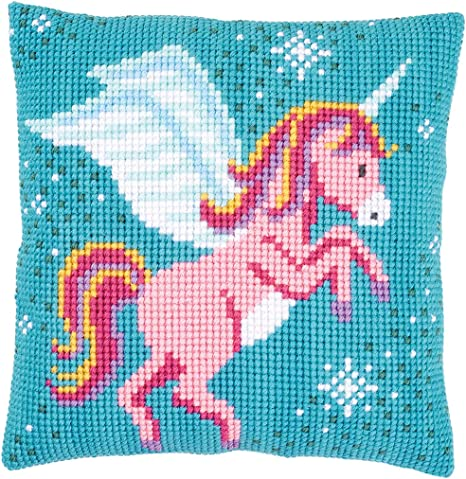 VERVACO|Cross Stitch Cushion Kit Husky|PN-0008775