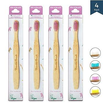 Humble Brush Cepillo de dientes de bambú para niños violeta ...