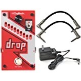 Digitech DROP Compact Polyphonic Drop Tune Pitch Shift Pedal with Momentary Latch Switching and True Bypass with Electronic P
