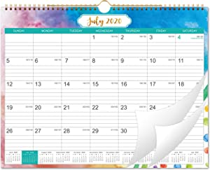 2020-2021 Calendar - 18 Month Wall Calendar with Julian Date, Thick Paper Perfect for Organizing & Planning, July 2020 - December 2021, 14.75 x 11.5 Inches, Wire-Bound