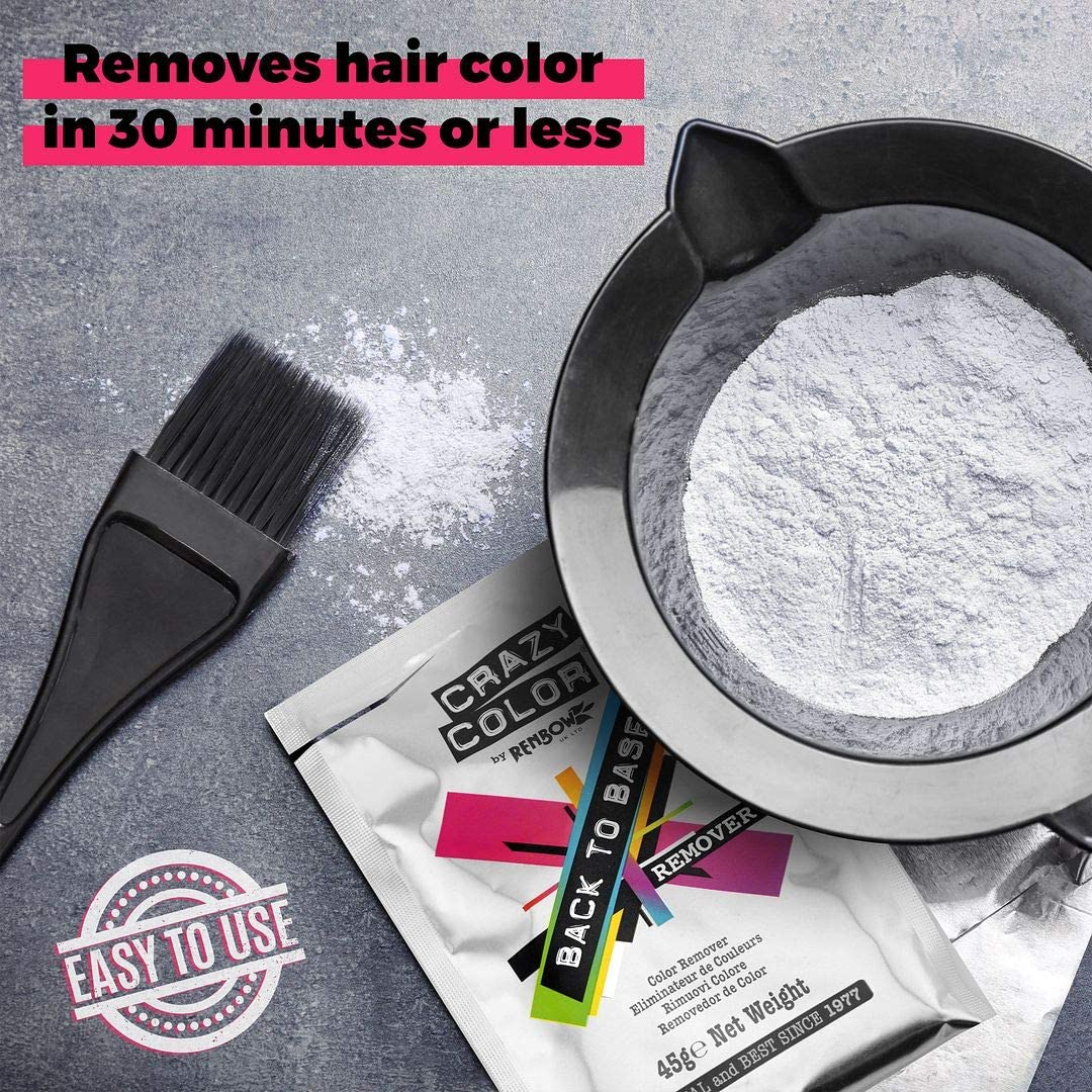 CRAZY COLOR Back TO Base Color Remover 45G, Blanco