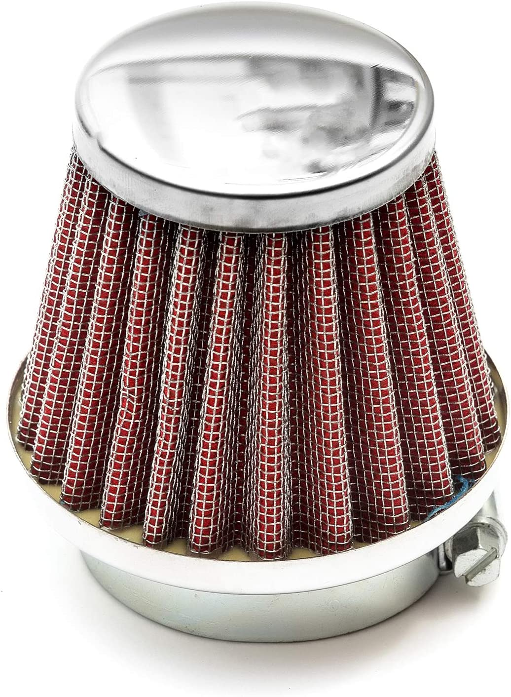 42mm Pitbike Air Filter Red Performance High flow Mushroom Style Straight Neck