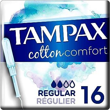 Tampax Los Tampones De Algodón Confort Regulares Con Manguito De ...