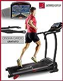 Sportstech F15 tapis roulant con App controllo Smartphone, Bluetooth, 3 HP, 12 KM/H, camminare e correre con 17 programmi e porta tablet – compatto e facile per l'archiviazione