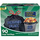 Member's Mark 39 gal. Power-Guard Yard Drawstring Trash Bags, 1 Pack, 90 Count