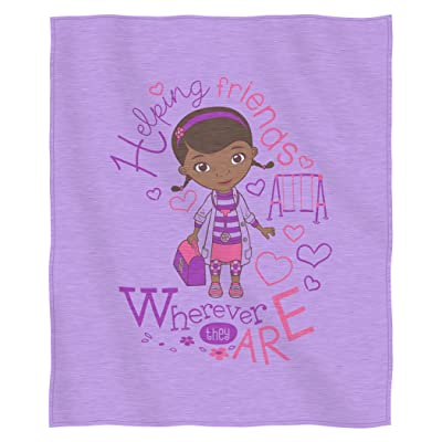 "Disney's Doc McStuffins, ""Doc Love"" Sweatshirt Throw Blanket, 50"" x 60"", Multi Color: Home & Kitchen"