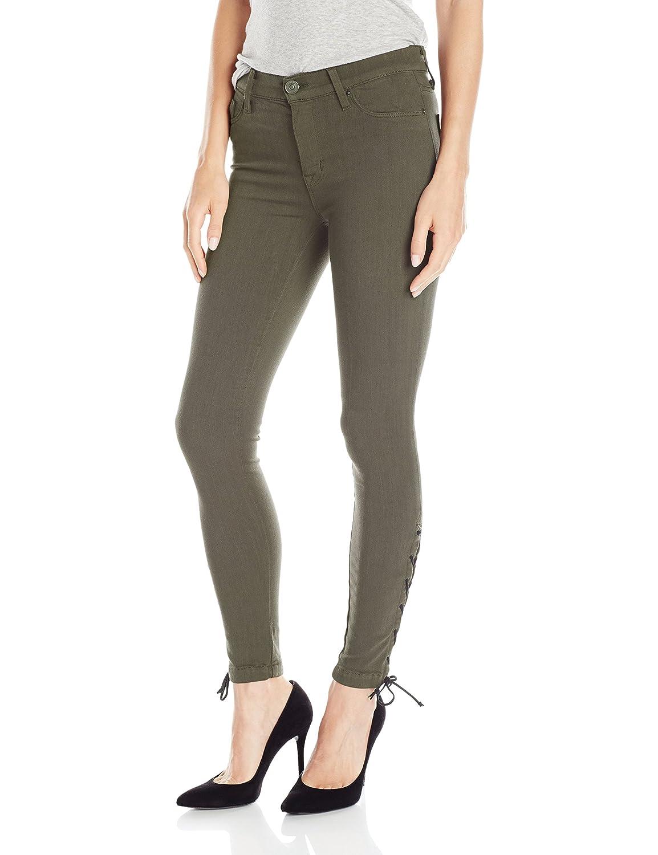 Hudson Jeans Women's Nix Lace Hem Crop