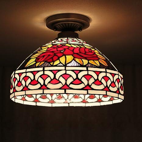 TOYM 12 pulgadas salón minimalista lámparas Tiffany Guti ...