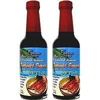 Salsa de coco Secret Aminos Teriyaki (2 unidades) – 10 fl oz – alternativa Teriyaki baja en sodio última intervensión de soja, orgánica, vegana, sin OMG, sin gluten – 40 porciones en total