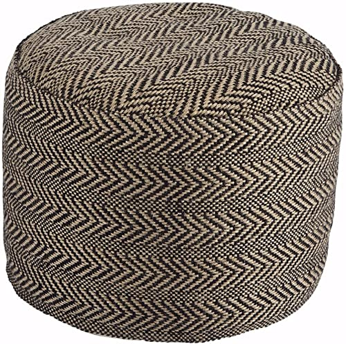 Signature Design by Ashley – Chevron Pouf – Vintage Casual – Natural