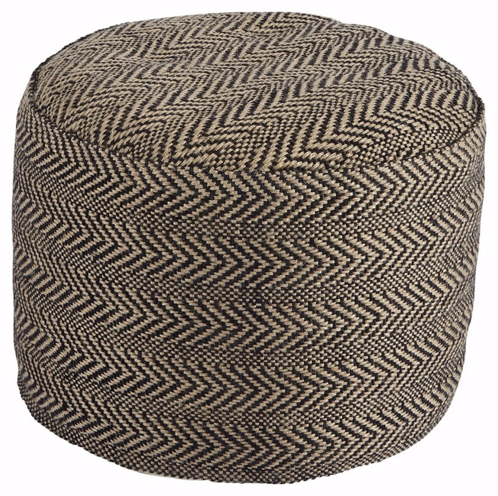 Ashley Furniture Signature Design - Chevron Pouf - Vintage Casual - Handmade - Natural by Signature Design by Ashley