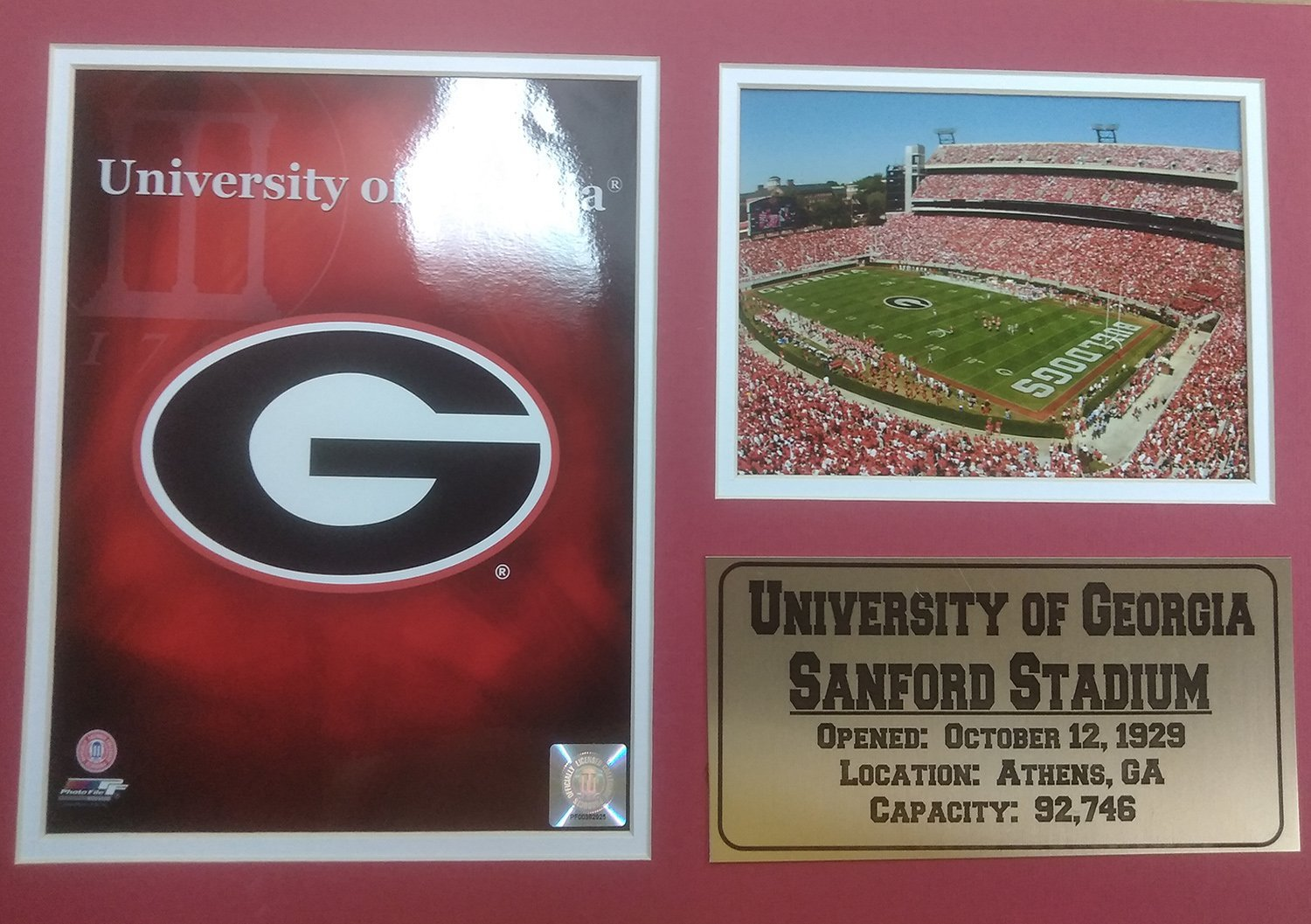 Encore Select 12405 NCAA University of Georgia Double Frame Print, 12Inch by 18Inch