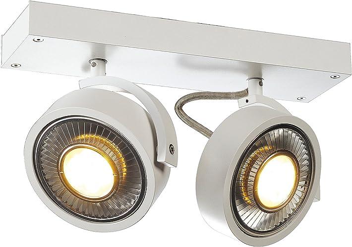 Kalu 1 schwarze Wand und Deckenleuchte QRB111 G53 Deckenlampe Spot Strahler SLV