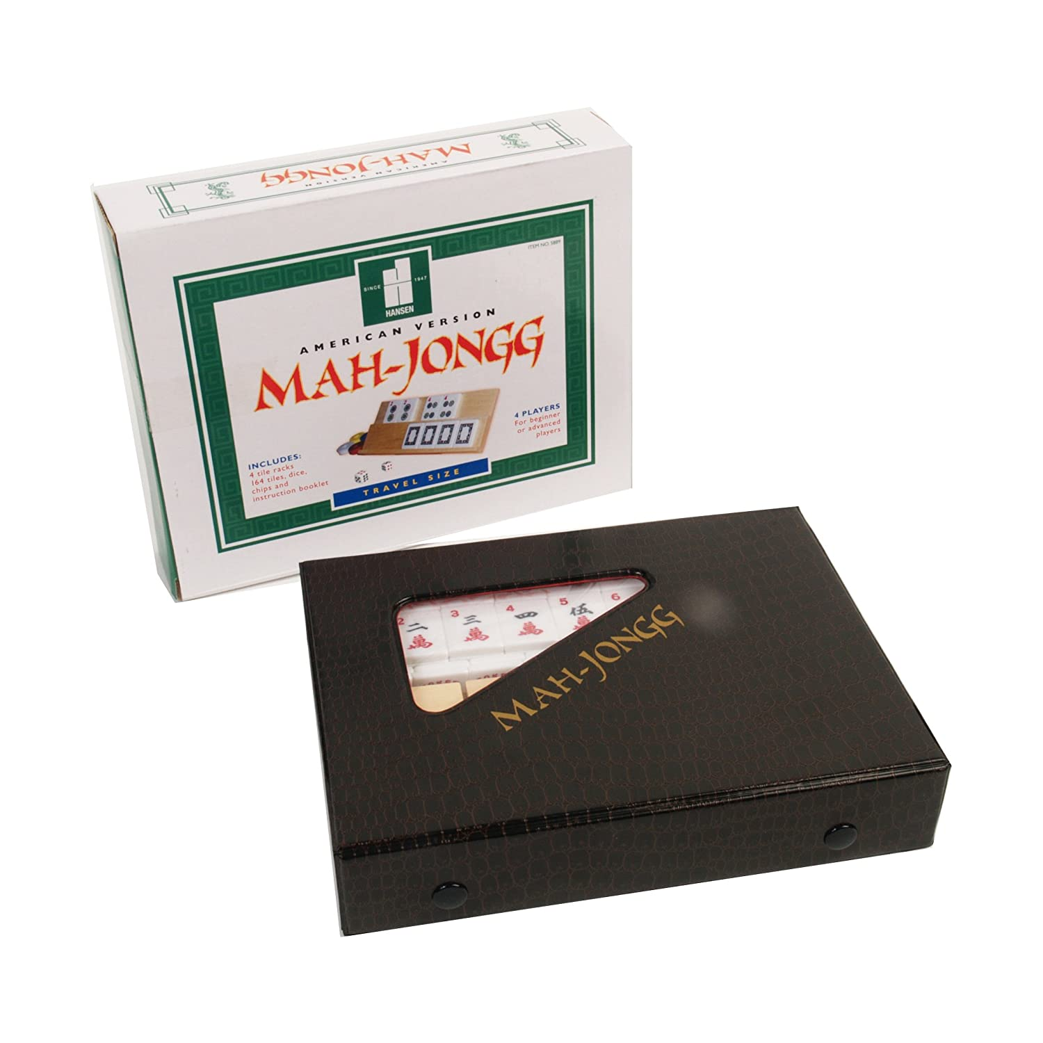Mah-Jongg American Version Travel Game John N. Hansen Co. 5889