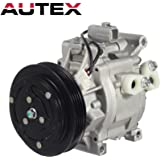 AUTEX AC Compressor and A/C Clutch CO 11063AC 8832052010 Replacement for Echo 2000 2001 2002 2003 2004 2005 1.5L