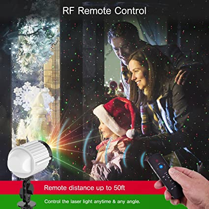 Christmas Lights Projector,Laser Lights Star Night Shower with RF Remote Controller