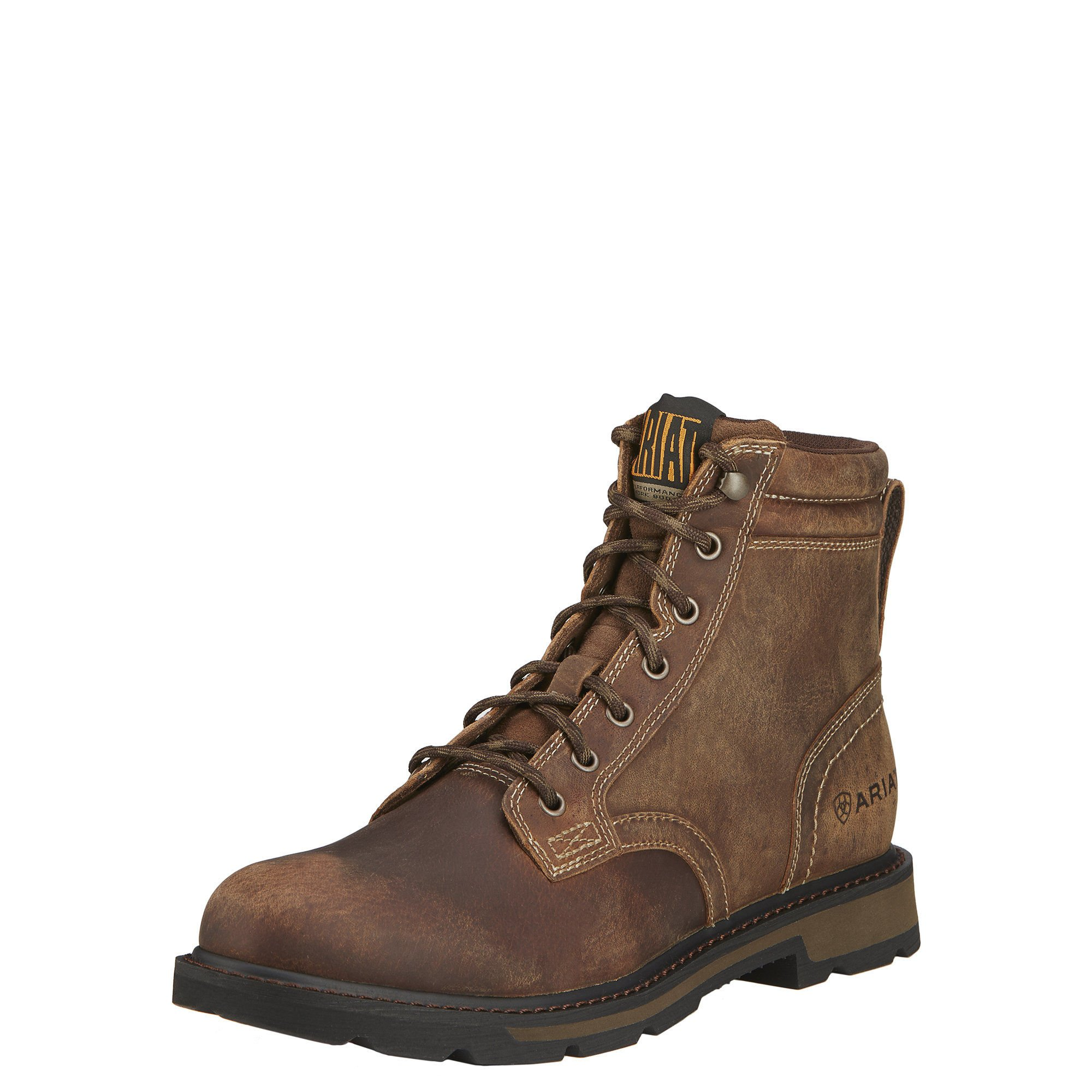 Ariat Men's Groundbreaker 6'' Work Boot, Brown, 12 EE US