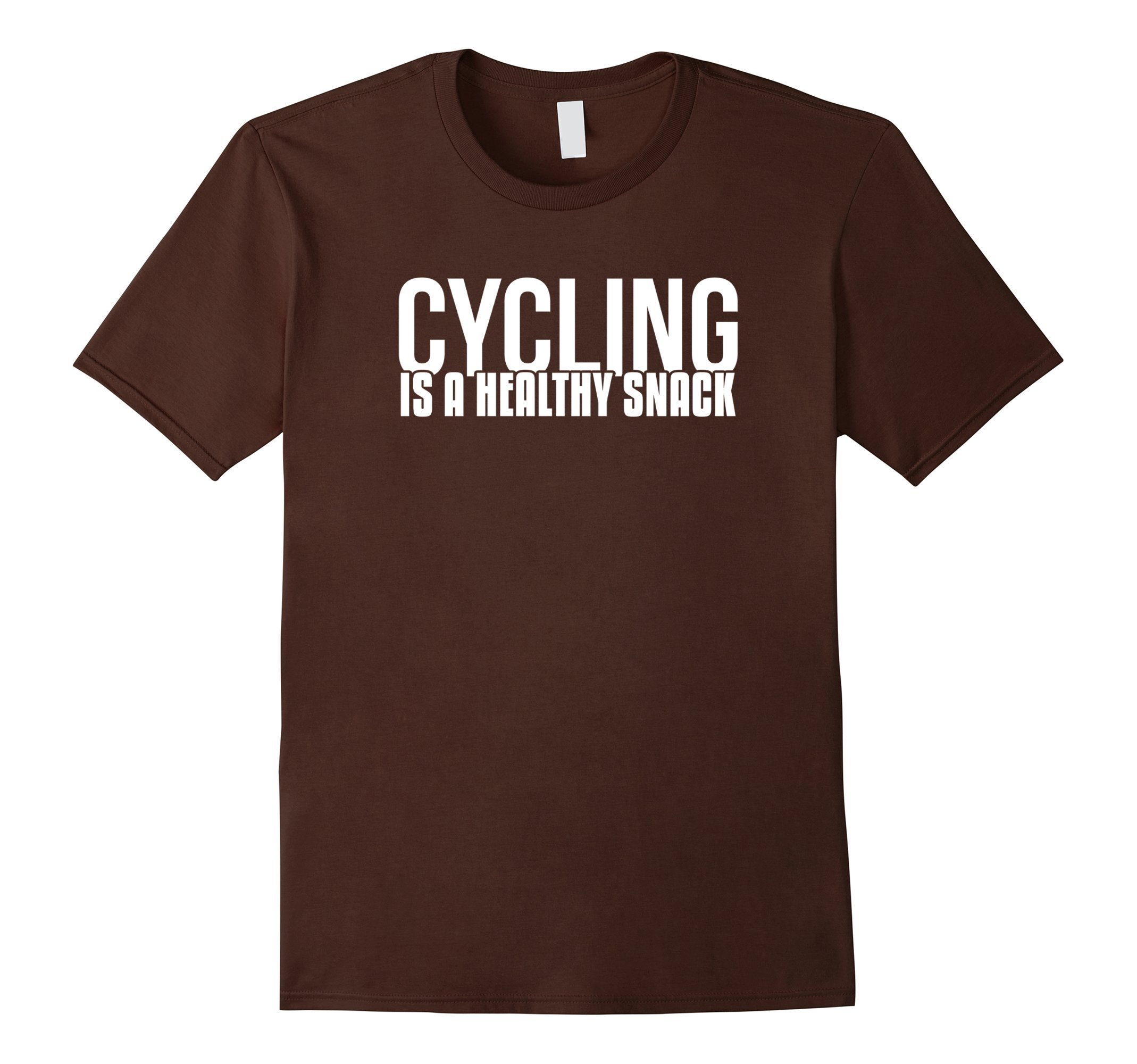 Mens Cycling Is A Healthy Snack Sport T-Shirt XL Brown