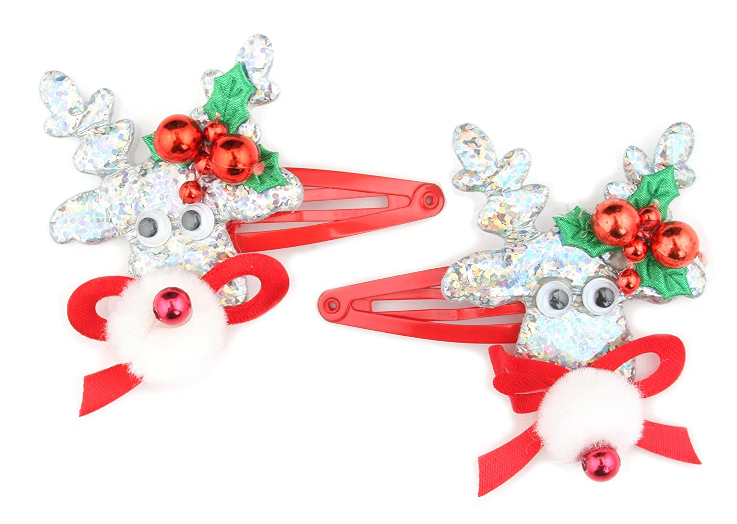 Zest 10 Christmas Tinsel Hairbands with Snowflakes Red /& Silver