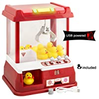 Gadgy ® Candy Grabber avec câble USB et 9 Canards Plastique | Machine Attrape à Bonbons Pince | Distributeur à Bonbons | Fete Foraine Anniversaire Kermesse