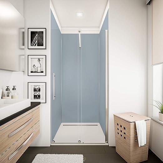 Schulte lot de 3 panneaux muraux décoratifs DecoDesign COULEUR + 5  profilés, revêtement mural pour douche et salle de bains, couleur gris  argenté, ...