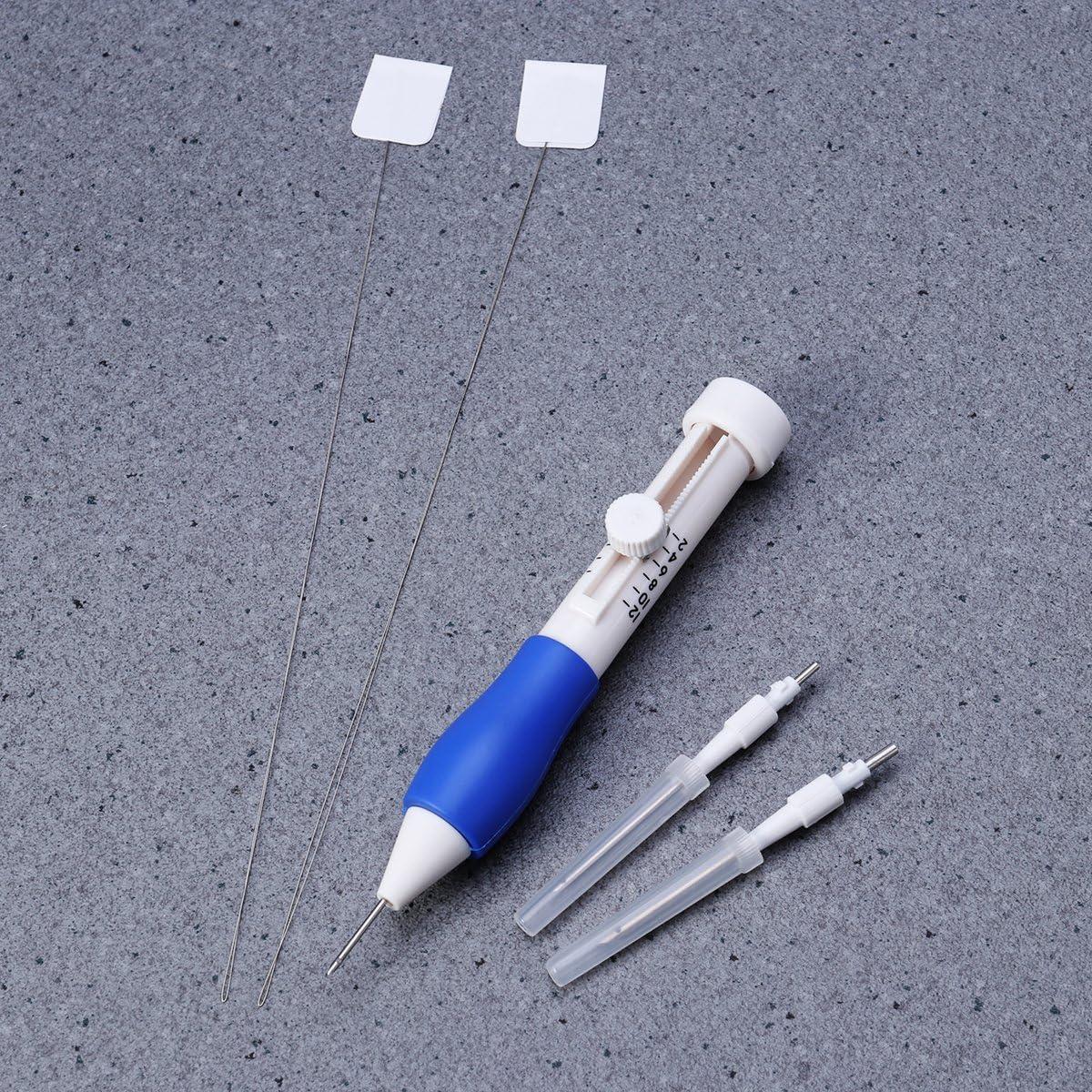 Juego de bol/ígrafos de Bordado para Coser a Punto Hilos Juego de Punzones y Punzones para Manualidades SUPVOX Juego de Agujas de Bordado