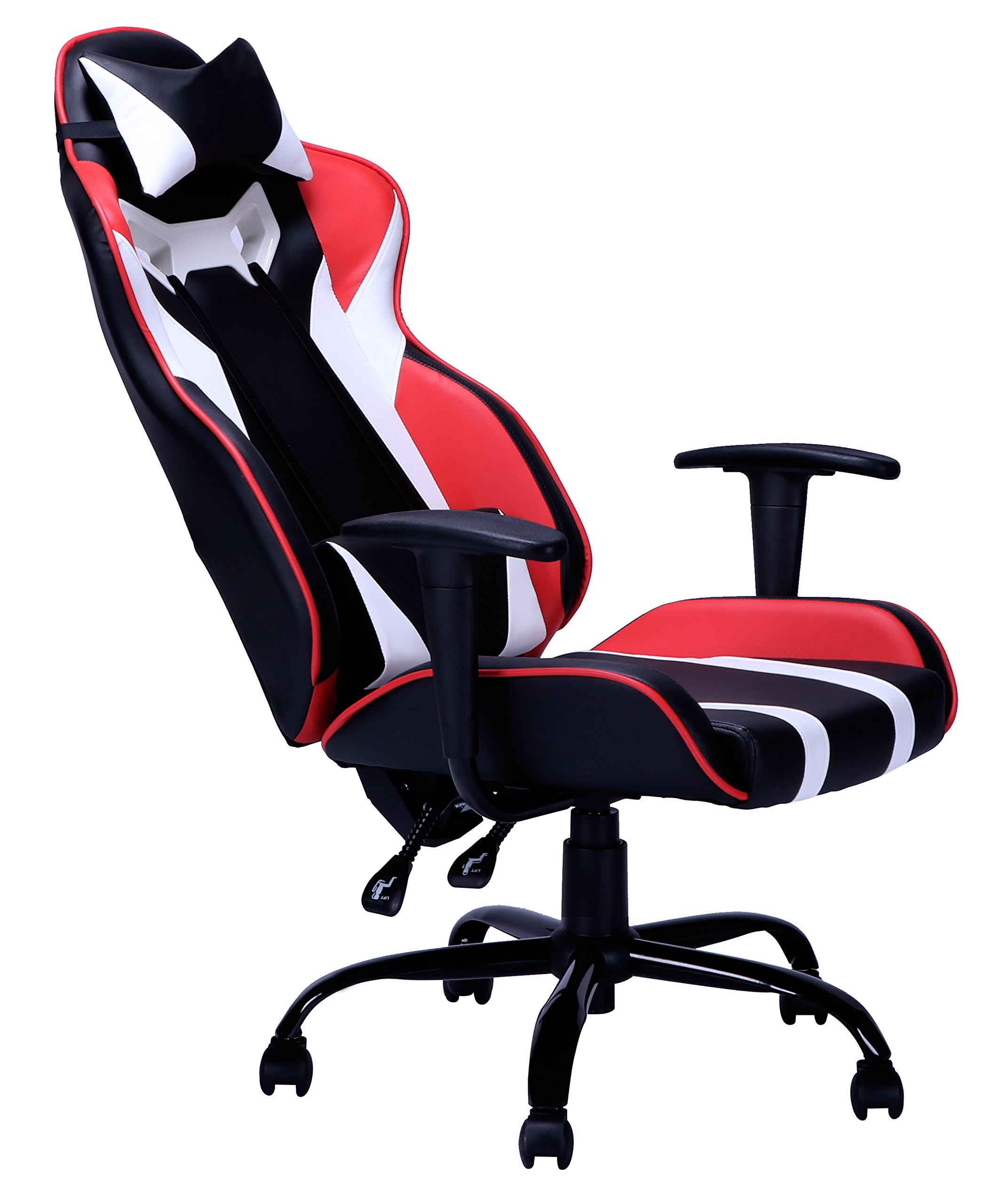 Ergonomic Office Chair PC Gaming Chair Desk Chair Executive Task Computer Chair Back Support Modern PU Pad Armrest Rolling Swivel Chair for Home & Office by BestMassage