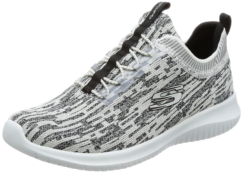 Skechers Women's Ultra Flex Bright Horizon Sneaker B01MZC6OOA 8 B(M) US|White/Black