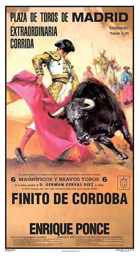 Cartel de toros - Personalizado 24 Carácteres - Plaza de ...