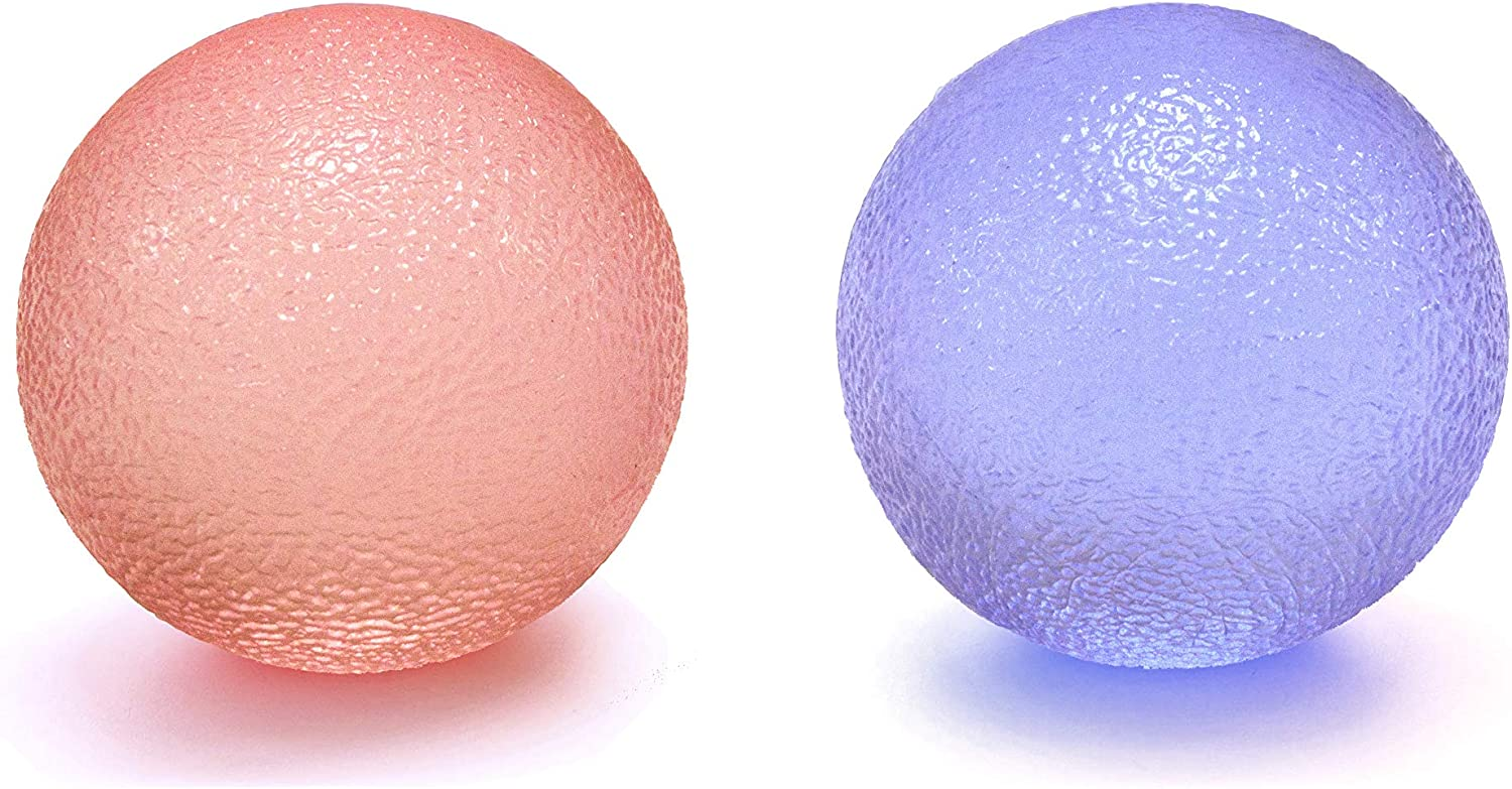 Youri Soul Hand Stress Balls – Hand Therapy Balls – Hand Grip Balls – Hand Squeeze Balls for Stress Relief, Arthritis Pain Relief, Strengthening Therapy, Set of 2 Color Squeeze Balls