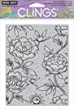 Hero Arts Cling Stamp, Large Flower Background