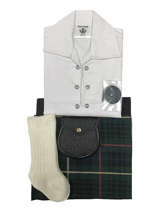 Stewart tartán caza ropa de bebé ajustable de estilo celta, manguera, Sporran 0 –