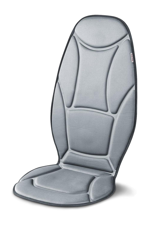Beurer MG155 - Funda a siento Masaje vibratoria, 2 niveles de intensidad, función de calor