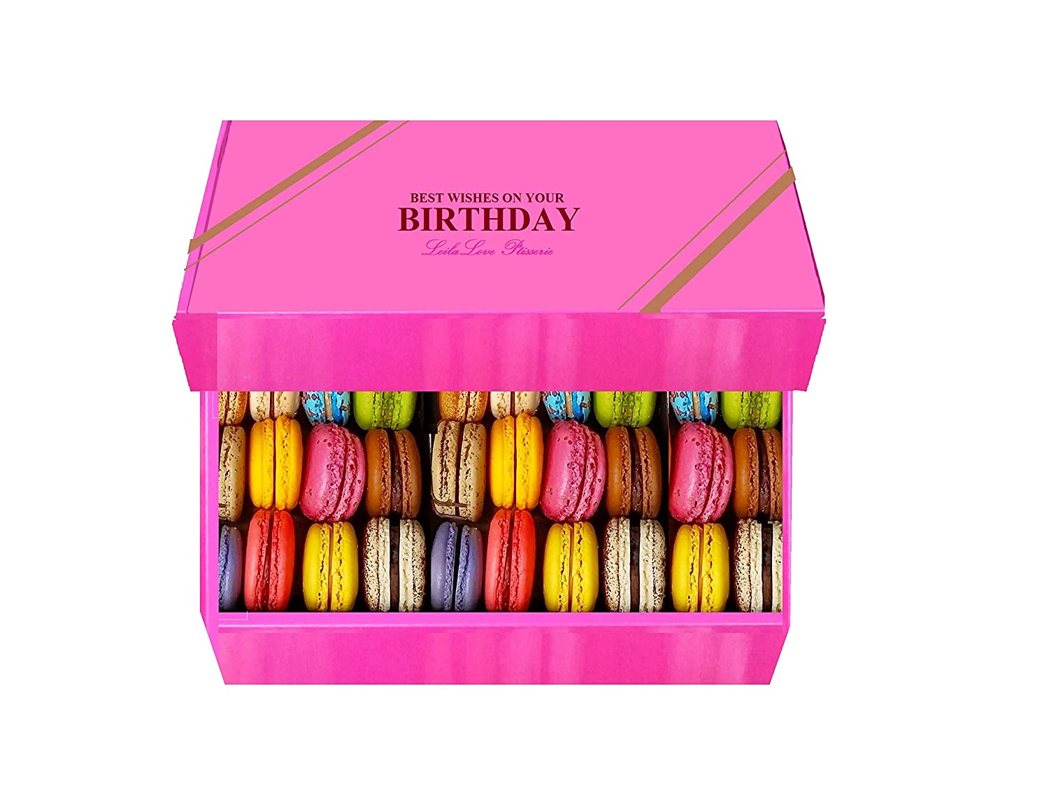 Tremendous Amazon Com Leilalove Macarons 20 Special Birthday Cake Macarons Personalised Birthday Cards Paralily Jamesorg