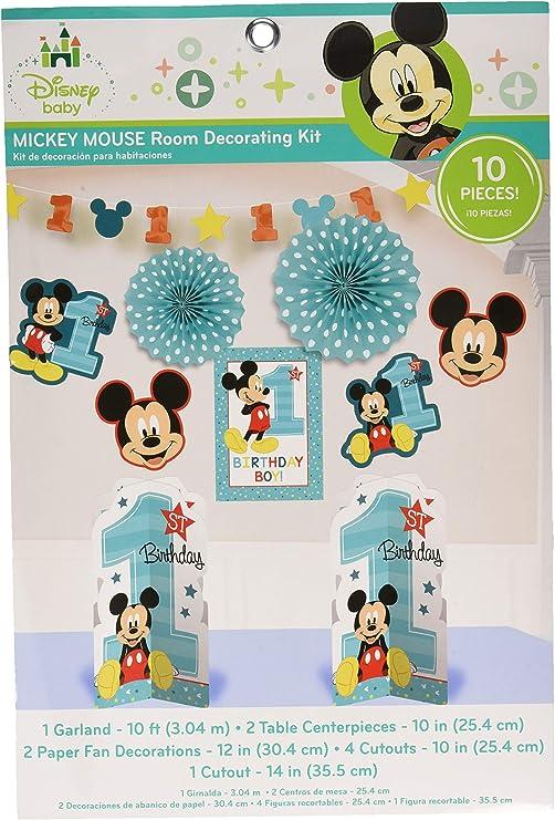 Amazon.com: Amscan Mickey Mouse - Kit de decoración para ...