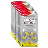 Rayovac Extra Advanced Zinc Air Hearing Aid Batteries, Size 10, Yellow Tab, Pack of 60
