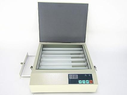 UV Exposure Unit for Hot Foil Pad Printing PCB + 4 pcs A4 photopolymer  plates