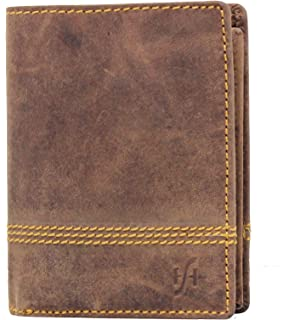 2a8b2dbb010 Starhide Mens RFID Blocking Distressed Hunter Leather Trifold Coin Pocket  Wallet 1195 Brown